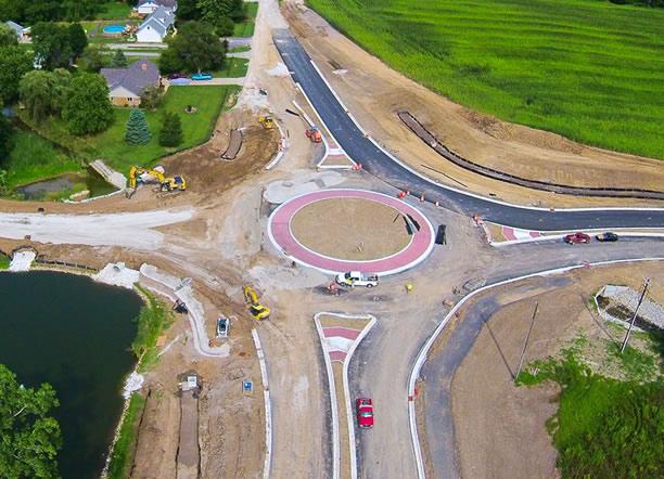 Indiana drone construction progress