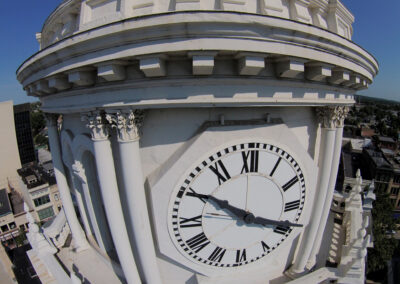 Clock Tower Drone Inspection
